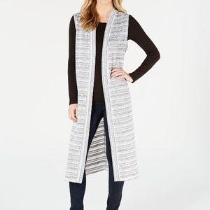 Calvin Klein Loose Knit Sleeveless Duster